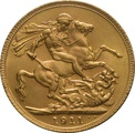 1911 Gold Sovereign - King George V - London