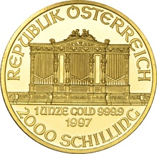 1997 1oz Austrian Gold Philharmonic Coin