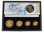 1982 Gold Proof Sovereign Four Coin Set Boxed