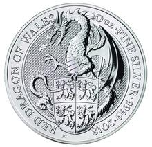 10oz Silver Coin,  Dragon - Queen's Beast 2018