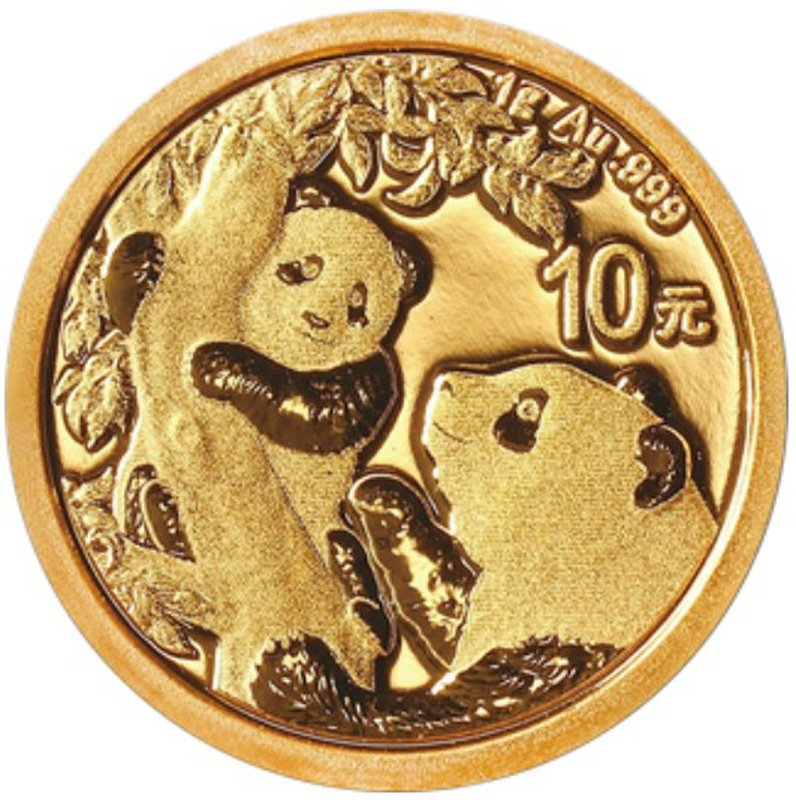 2021 1g Gold Chinese Panda Coin
