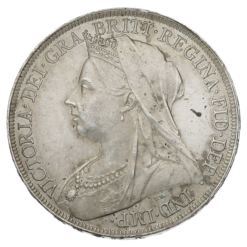 1896 LX Queen Victoria Silver Milled Crown