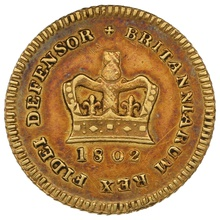 1802 George III Third Guinea Gold Coin