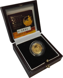 2005 Proof Britannia Tenth Ounce Boxed