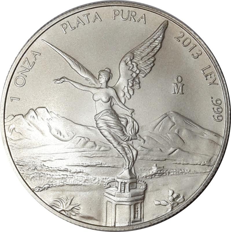 2013 1oz Mexican Libertad Silver Coin