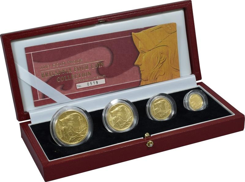 2003 Proof Britannia Gold 4-Coin Set Boxed