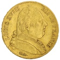 1814 20 French Francs - Louis XVIII Uniformed Bust - A