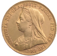 1901 Gold Sovereign - Victoria Old Head - London