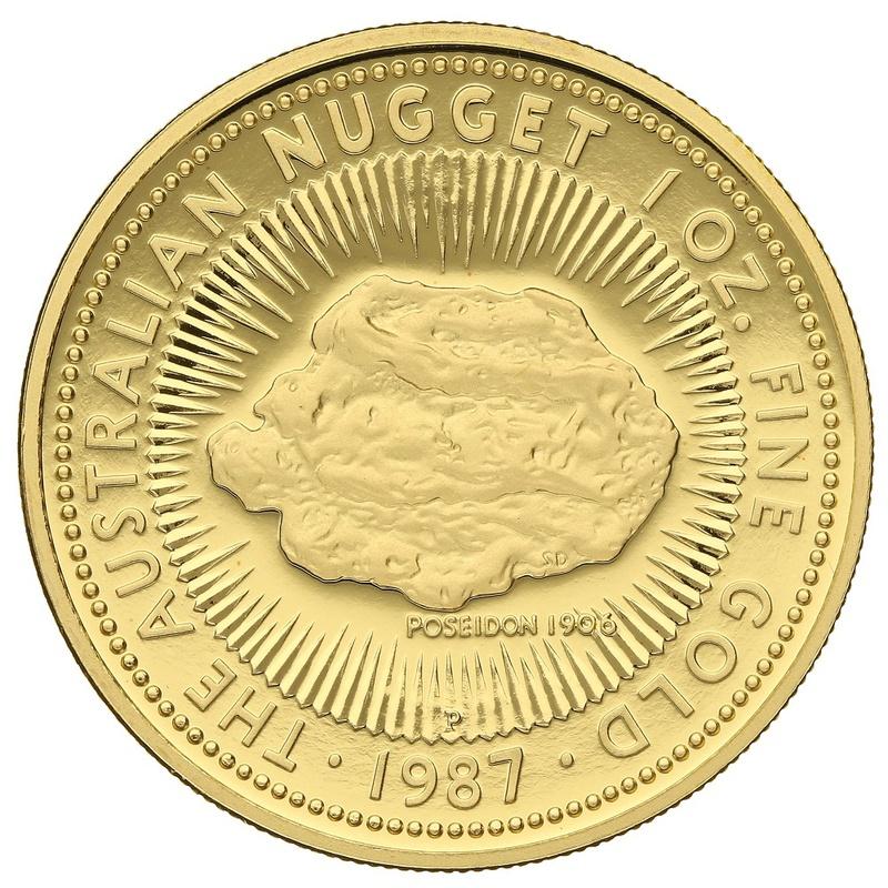 1987 1oz Gold Proof Australian Nugget