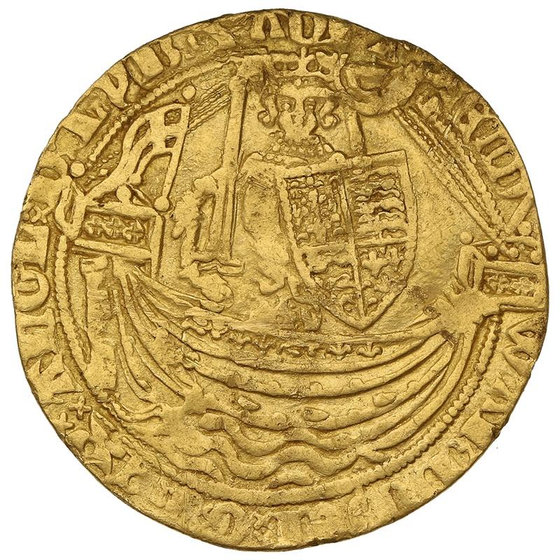 1361-69 Edward III Gold Half Noble Calais Mint