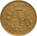1882 Gold Sovereign - Victoria Young Head Shield Back - M