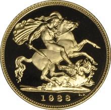 1988 Gold Half Sovereign Elizabeth II Third Head Proof