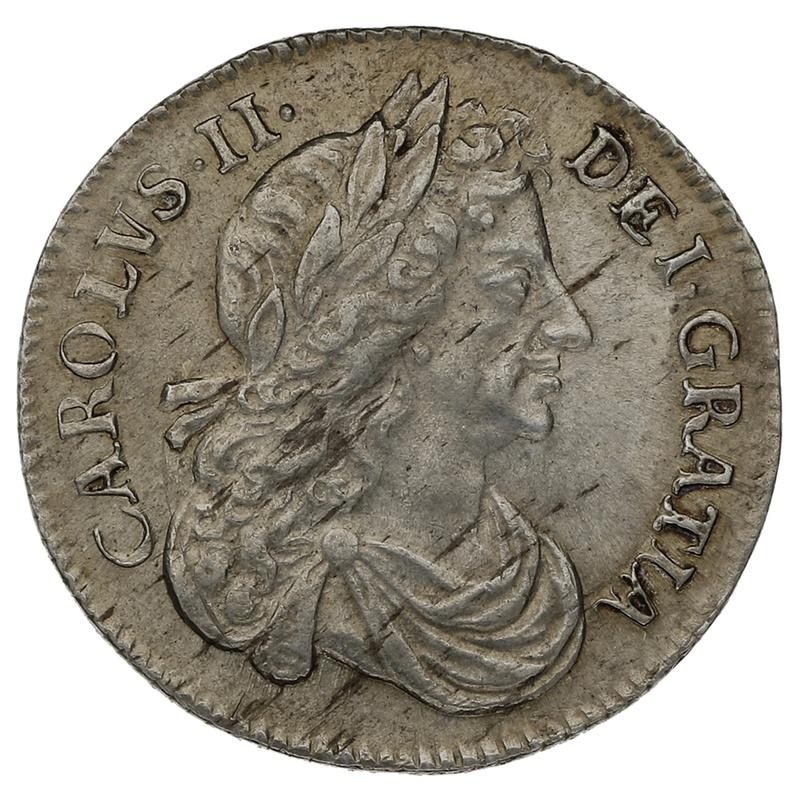 1684 Charles II Silver Sixpence