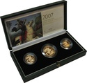 2007 Gold Proof Sovereign Three Coin Set Boxed