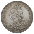 1887 Queen Victoria Silver Milled Crown - About Uncirculated
