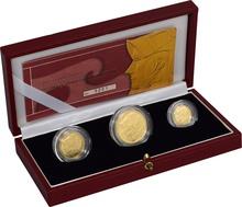 2003 Proof Britannia Gold 3-Coin Set Boxed