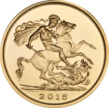 2015 - Gold £5 Brilliant Uncirculated Coin Boxed