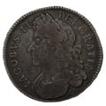 1687 James II silver Halfcrown TERTIO