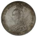 1887 Queen Victoria Silver Shilling