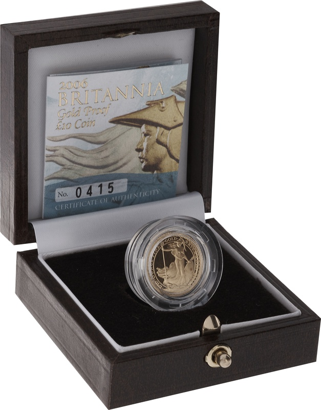 2006 Proof Britannia Tenth Ounce Boxed