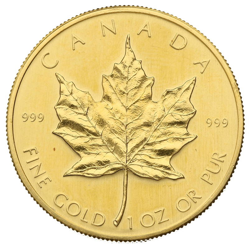 1981 1oz Canadian Maple Gold Coin