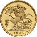 1984 Gold Half Sovereign Elizabeth II Decimal Head Proof