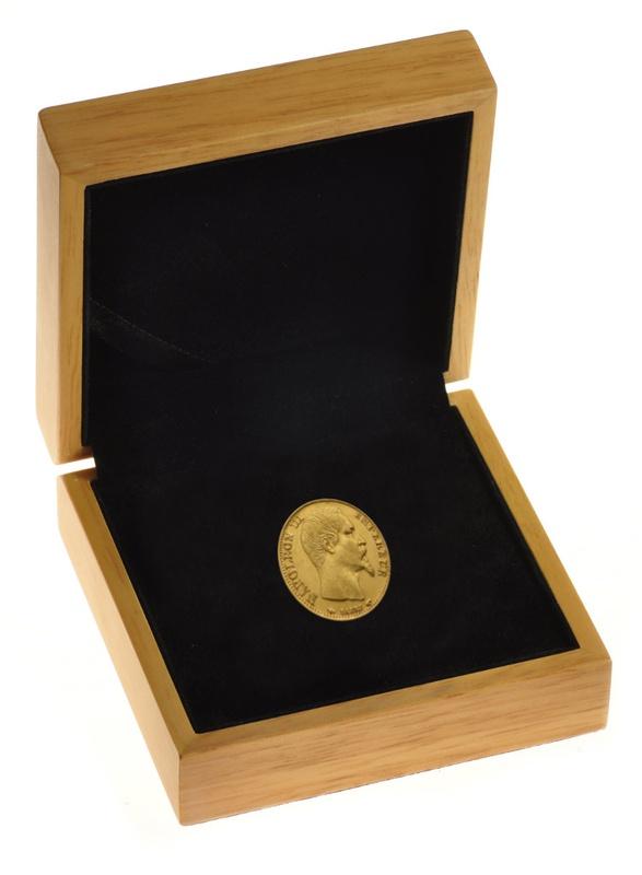 20 French Francs - Napoleon III Bare Head Gift Boxed