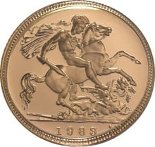 Gold Proof 1983 Half Sovereign Boxed