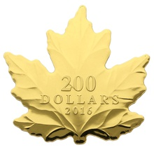 2016 $200 Nature's Pure Form Gold Maple Coin 1oz Boxed