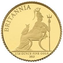 2013 Tenth Ounce Proof Britannia Gold Coin