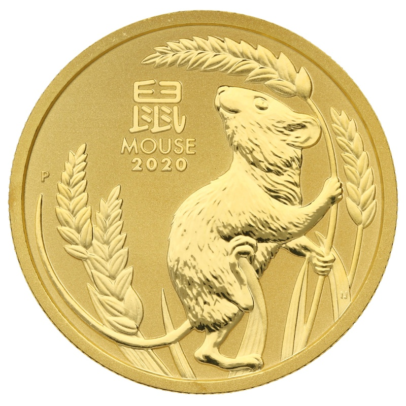 2020 Perth Mint Half Ounce Year of the Mouse Gold Coin
