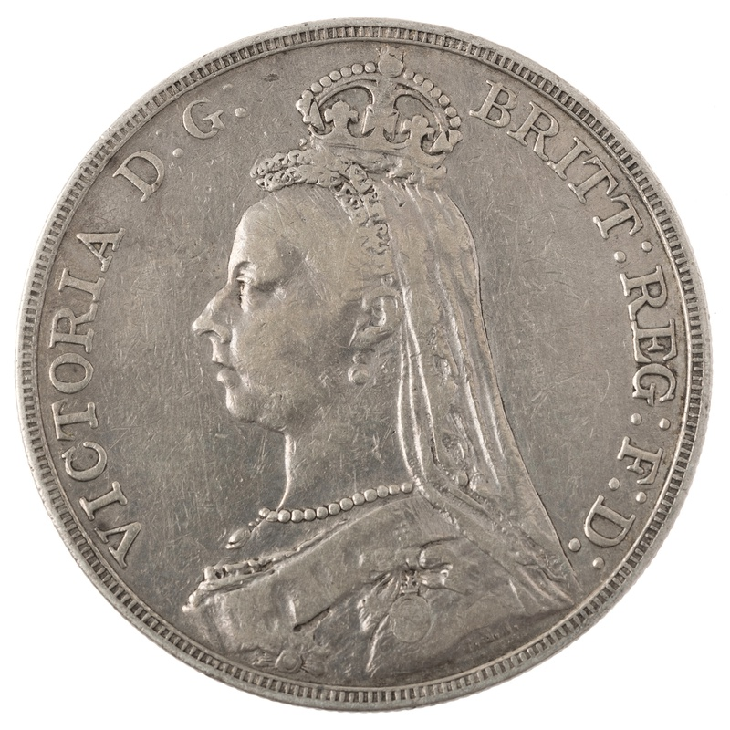 1891 Victoria Jubilee Head Crown - Fine