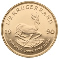 1990 Proof Half Ounce Krugerrand Gold Coin