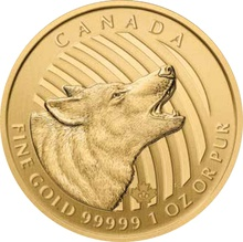 2014 1oz Canadian Howling Wolf Gold Coin
