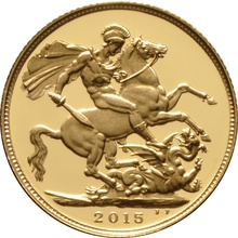 2015 Gold Sovereign - Elizabeth II Fourth Head Proof