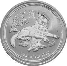 2018 2oz Australian Lunar Year of the Dog Silver Coin