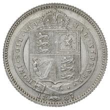 1887 Victoria Silver Shilling