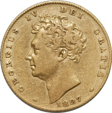 George IV 1827 Half Sovereign
