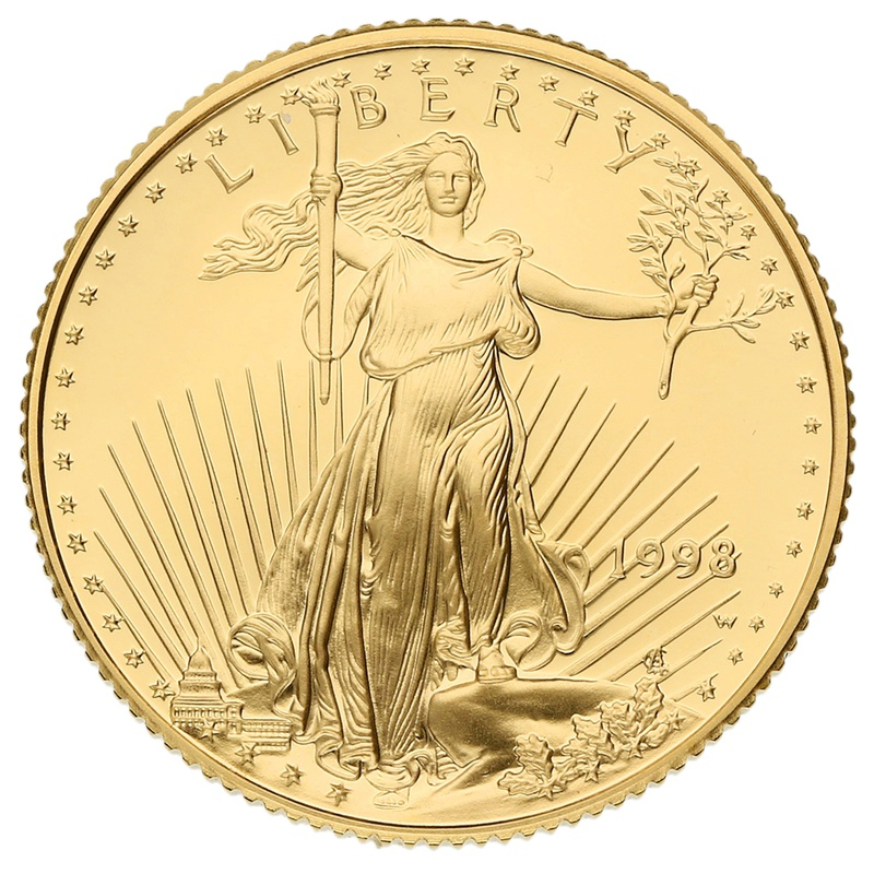 1998 Proof Quarter Ounce Eagle Gold Coin