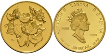 2000 Proof $350 Gold Coin Tree In Bloom Canadian Mint Boxed