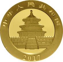 2017 15 gram Gold Chinese Panda Coin-200 Yuan
