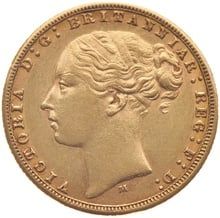 Victoria Young Head Gold Sovereign Gift Boxed