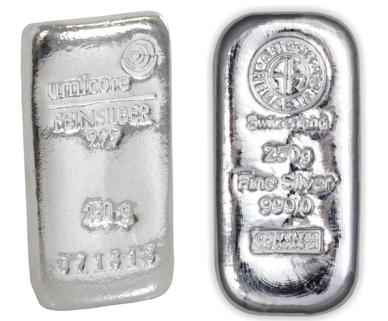 250 Gram Silver Bullion Bar Best Value
