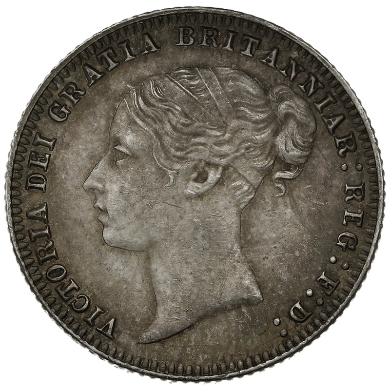 1879 Queen Victoria Silver Sixpence