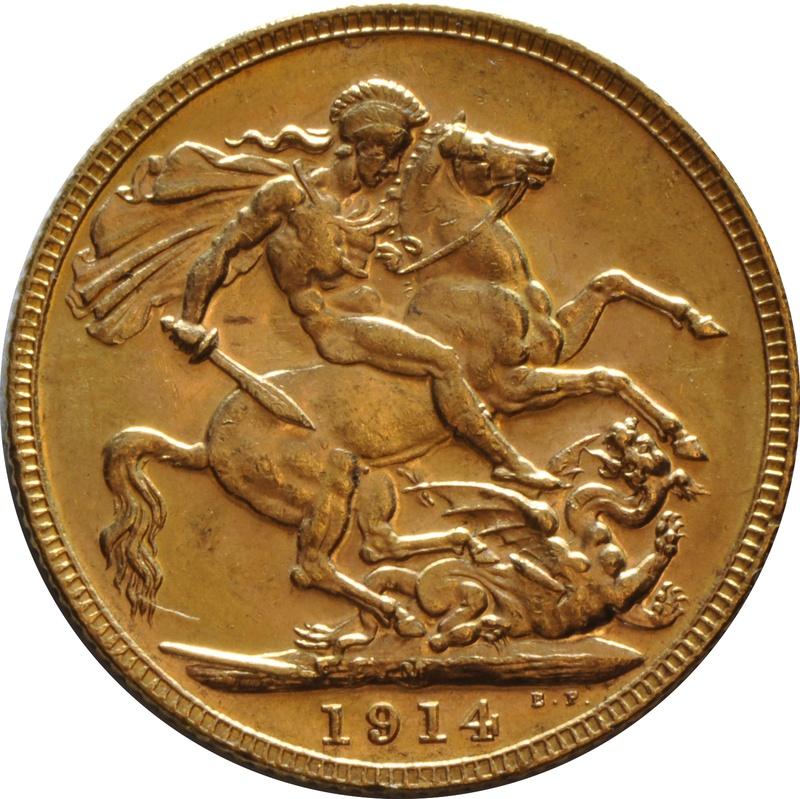 1914 Gold Sovereign - King George V - M