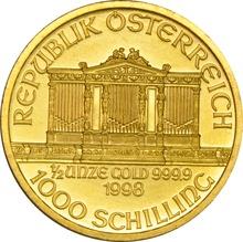 1998 Half Ounce Gold Austrian Philharmonic