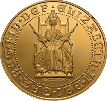 1989 - Gold £5 Proof Coin (Quintuple Sovereign): 500th Anniversary
