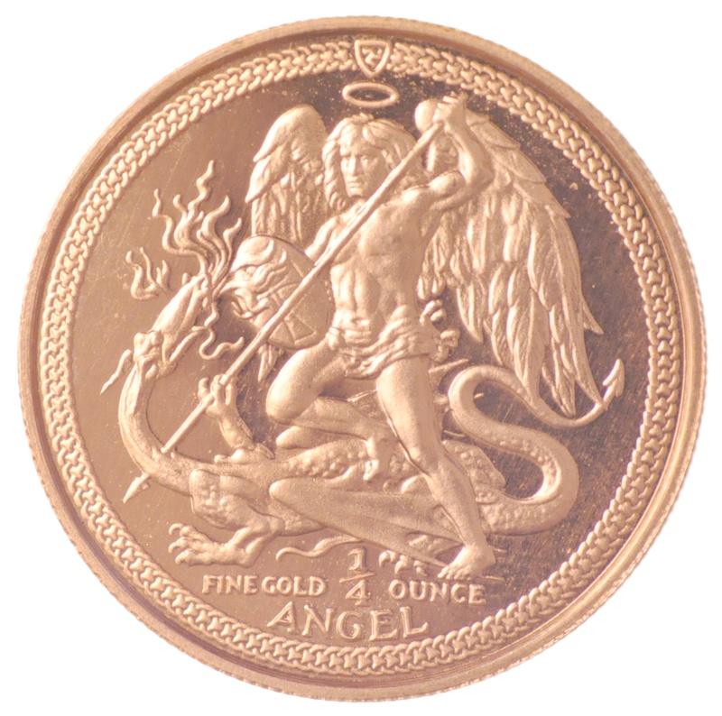 Quarter Ounce Gold Isle of Man Angel