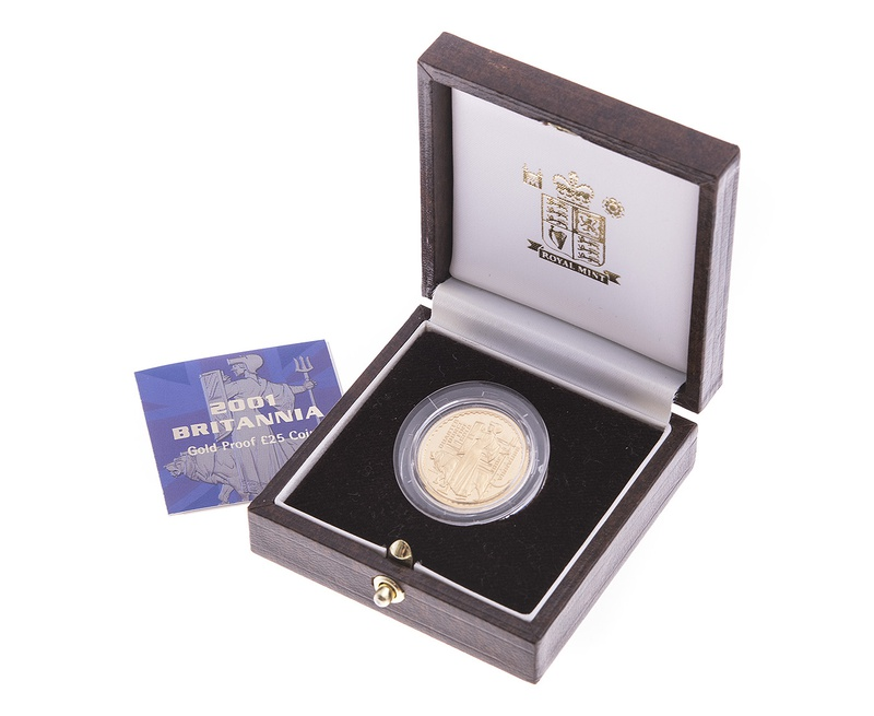 2001 Britannia Quarter Ounce Gold Proof Coin Boxed