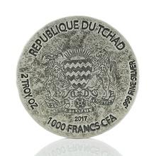 2017 Pharaoh Ramesses II 2oz Silver Coin Boxed